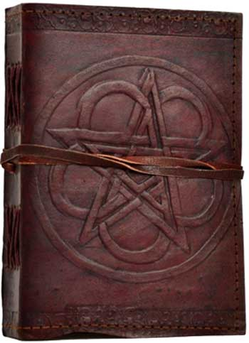 Pentagram leather w/ cord