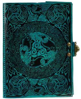 Celtic blue leather w/ latch