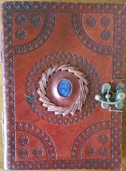 "5"" x 7"" God's Eye Embossed leather w/ latch"