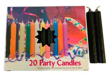 Black Chime Candle 20 pack