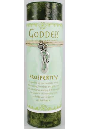 Prosperity Pillar Candle W Goddess
