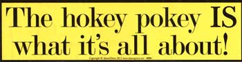 The Hokey Pokey IS What It`s All About bumper sticker