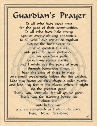 Guardian`s Prayer poster