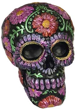 Purple metallic Skull bank (medium)
