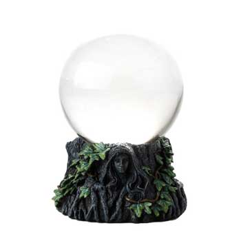 100mm Maiden, Mother Crone with Clear crystal ball