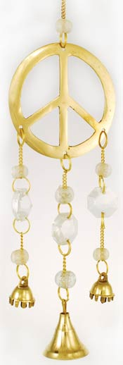 Small Brass Peace Wind Chime