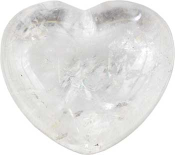 "1 3/4"" Clear Quartz heart"
