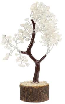 Quartz gemstone tree