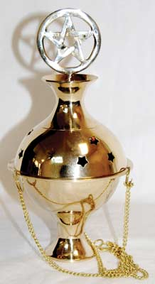 Pentagram Crowned Censer