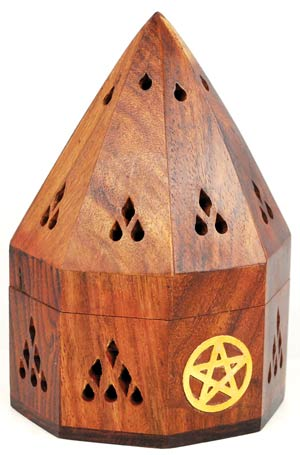 Pentagram Temple Incense Burner