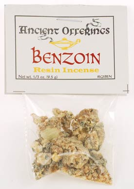 Benzoin Granular Incense chunks 1/3 oz