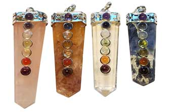 Crystal Pencil Point w/ 7 Chakra