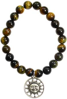 Tiger Eye Joy Sunface silver