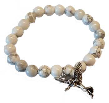 Rainbow Moonstone Protection Angel silver