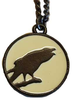 caw st the Moon pendant
