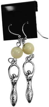 Moonstone Goddess earrings