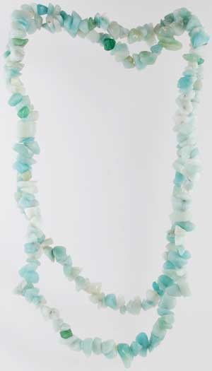 Amanzonite 36 Chip Necklace