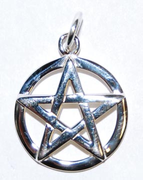 Raised Silver Pentagram