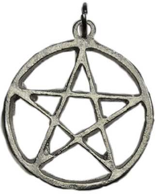 Medium Pewter Pentagram Pendant