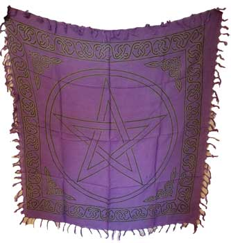 Large Pentagram altar cloth