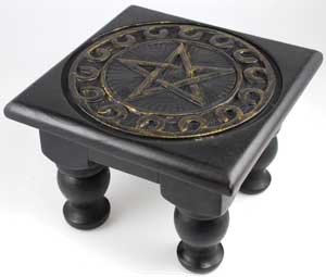 Small Square Pentagram altar table