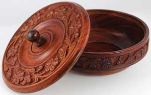 Wooden Ritual Bowl with Lid