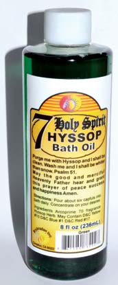 8oz 7 Holy Spirit Hyssop bath