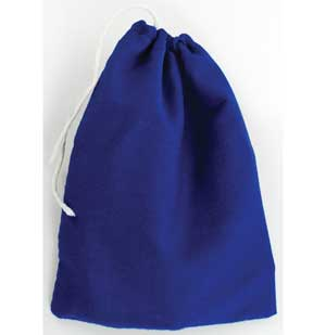 "Blue Cotton Bag 3"" x 4"""