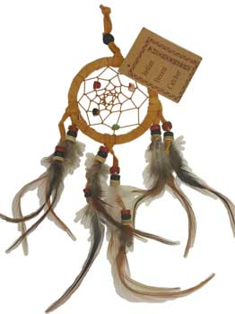 "2 1/2"" Brown dream catcher"