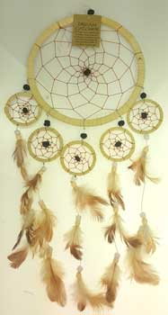 "6 1/4"" Tan dream catcher"