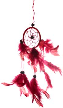 "3"" Red dream catcher"