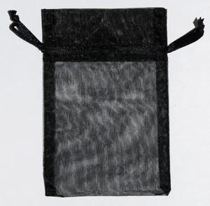 Small Black Organza Pouch