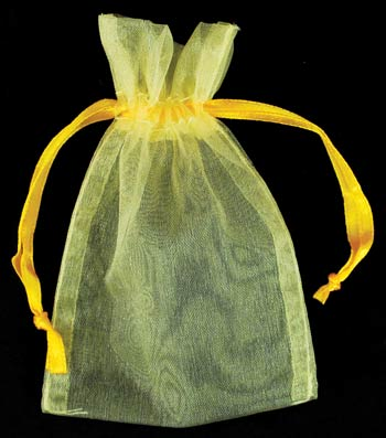 Small Yellow Organza Pouch