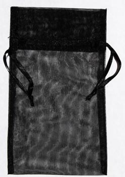 Large Black Organza Pouch