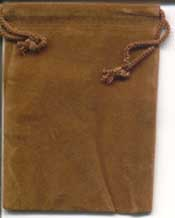 Bag Velveteen 3 x 4 Brown