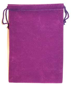 Bag Velveteen 5 x 7 Purple