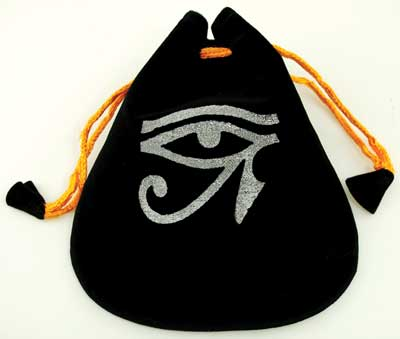 Eye of Horus Velveteen Bag 5""
