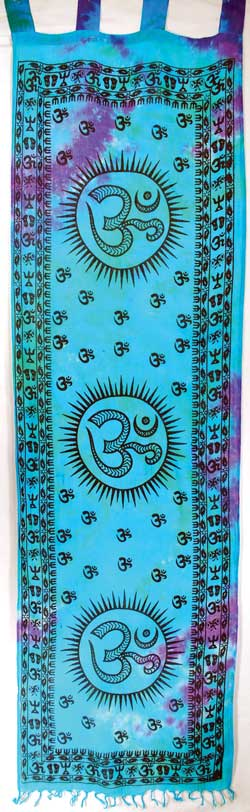 "Om curtain pair (22""x72"")"