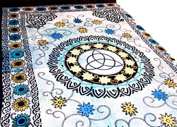 "Flower Triquetra 72"" x 108"" Tapestry"