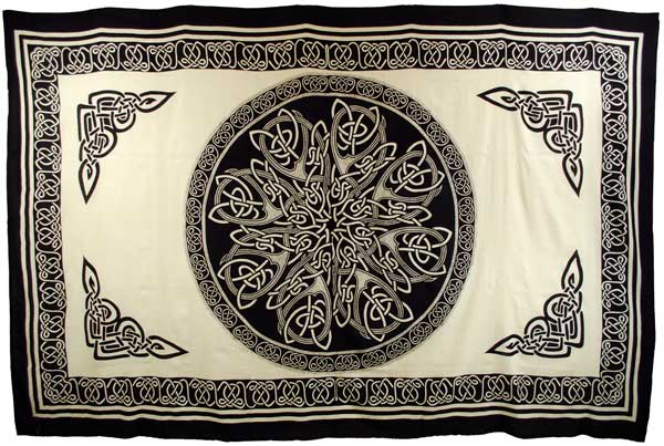 "Ancient Celtic Knot 72"" x 108"" tapestry"