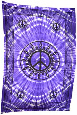 "Purple Pentagram Tapestry (72"" x 108"")"